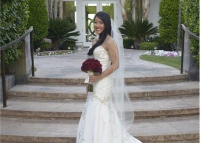 Bride Back Turned Outside